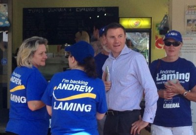 ANDREW LAMING AND SUPPORTERS NOT CAMPAIGNING AT CLEVELAND FARMERS MARKETS