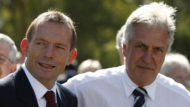 Federal MP Don Randall and Tony Abbott. Picture: Ray  Strange Source: The Australian