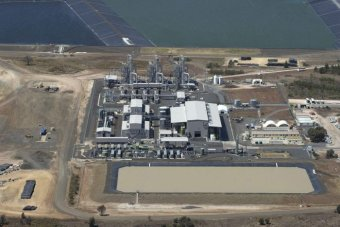 QGC water treatment plant (Photo AAP: Dave Hunt)