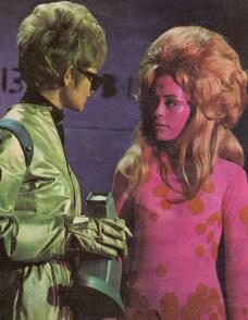 Cadet Tina Culbrick (left) and a 'space phenomenon'.