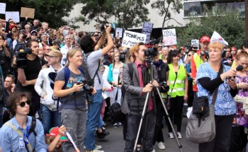 March in March may not have been found in the mainstream media, but images were being posted online in their thousands.