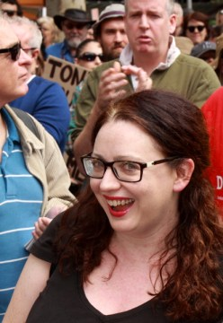 Van Badham (@vanbadham) MC at Melbourne March in March