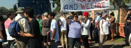Photo: Protest at Villawood Detention Centre (Source: Rachel Evans).