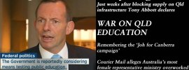 Abbott declares war on Qld education – The #QldWeekly Blogazine: @Qldaah #qldpol