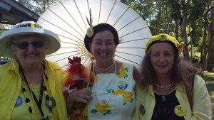 Knitting Nannas from Queensland came to support the Gloucester Protectors