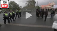ABC News 24: Arrests made as two rival protesting groups clash on Sydney Rd, Coburg.