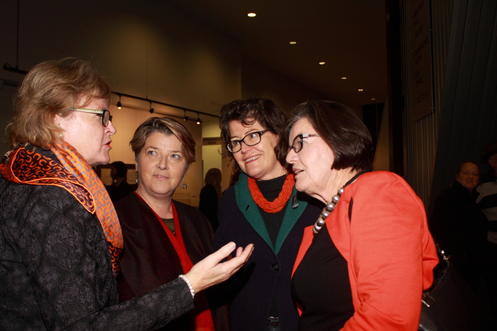 Susan Benedyka, Ilena Young, Ruth McGowan and Independent Cathy McGowan MP. Photo: @Jansant