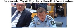 In absentia, Wyatt Roy clears himself of 'war tourism' – @Qldaah #auspol #qldpol