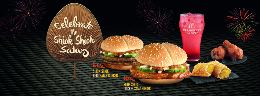Shiok Shiok Satay Burger Feast with McDonald's