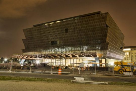 Museum of African American History and Culture, (NMAAHC) construction site