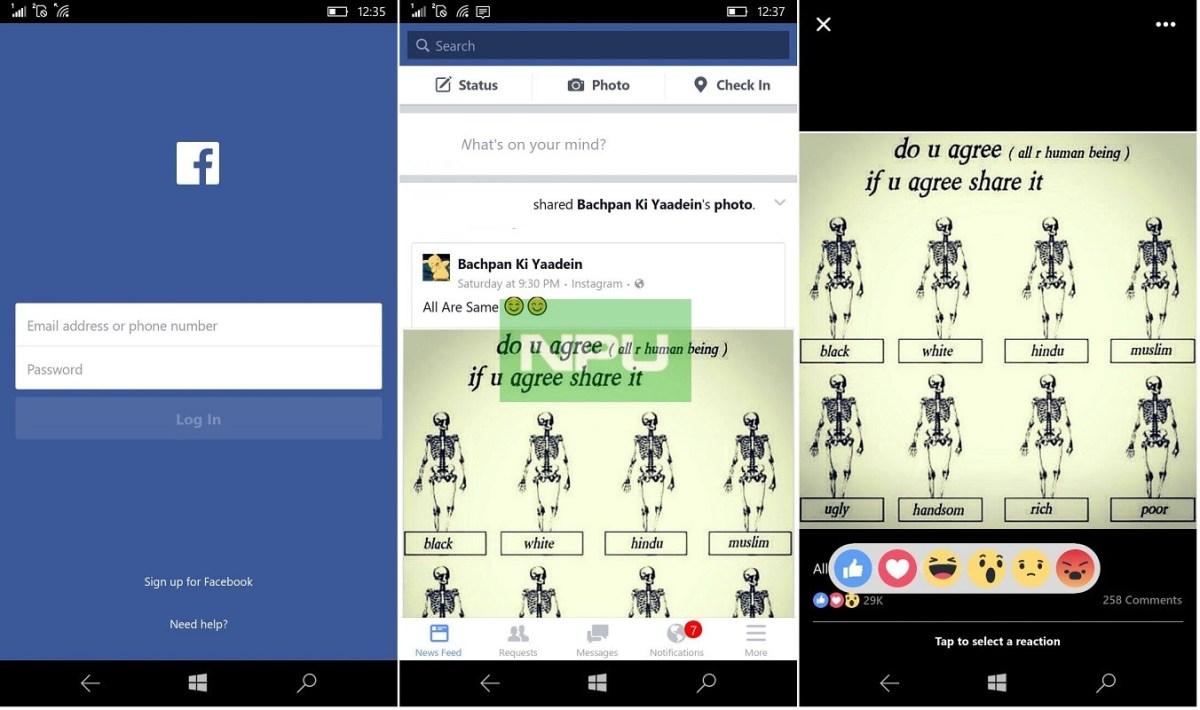 official facebook app for windows 10 mobile download