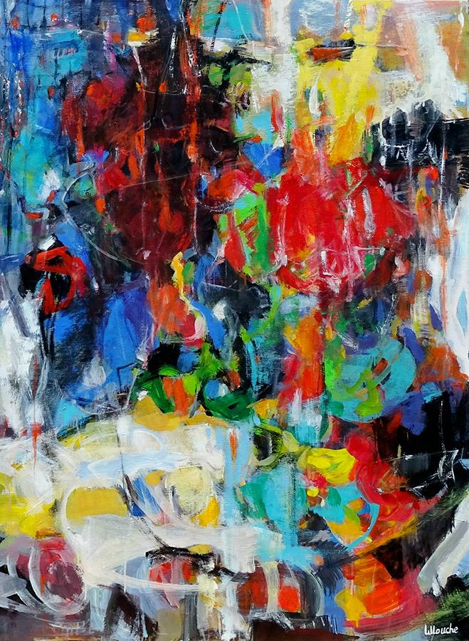 Nuit de la fête 60 Figure: 51.25 x 38.25 in. Michèle Lellouche Nolan-Rankin Galleries.com - Houston