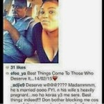 Big Girl caught flaunting another Woman's Husband online [PHOTO]