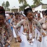 Half Na.ked Women dance, trance Togo mysterious sacred Stone (Photos)