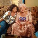Abeni Balogun with Daughter on Set '5 Minutes'
