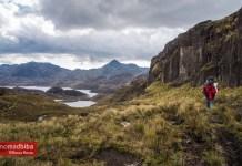 Hiking at El Cajas National Park in Ecuador