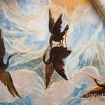 Ceiling fresco at Castello de Torrechiara