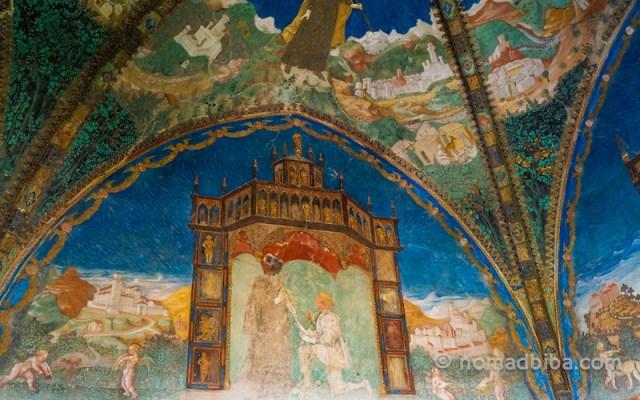 Detail from the Camera d'Oro at Castello di Torrechiara