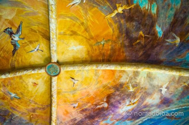 Ceiling fresco at Castello de Torrechiara, Parma