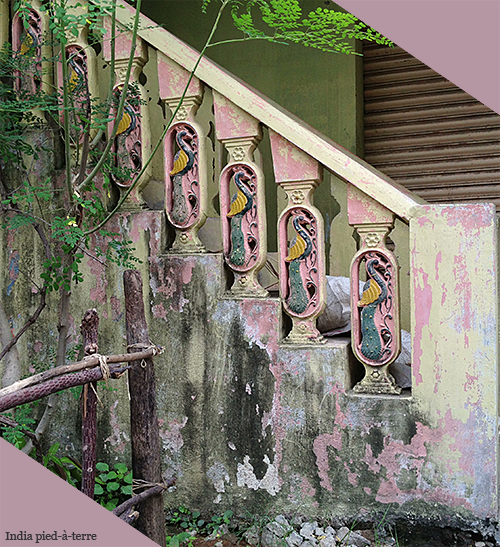 Painted Stairs in Rural South Indian Village