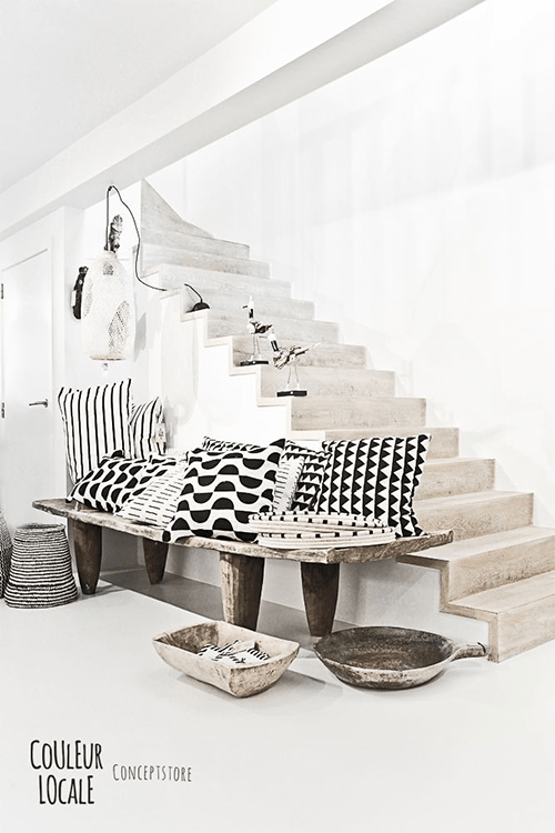 Bold Black and White Pillows from Couleur Locale