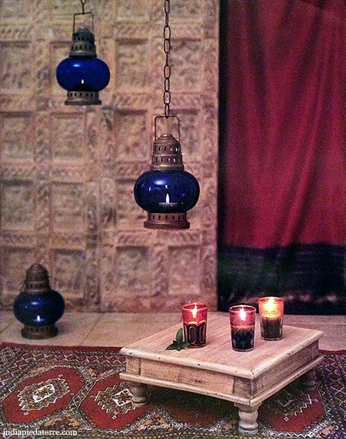 Moroccan Mint Tea Glasses and Indian Temple Door