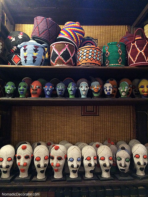 Beaded Heads and Woven Baskets at Les Tresor de Nomades Mustapha Blaoui