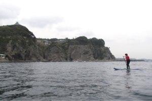 SUP湘南コース。七里ヶ浜〜江ノ島一周。