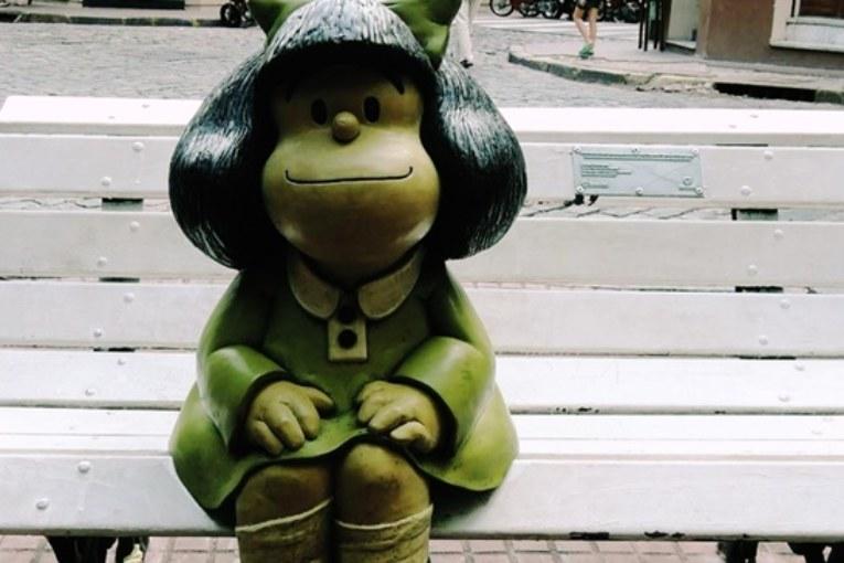 Estátua da Mafalda em Buenos Aires