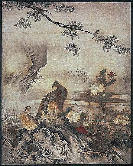 Motonobu Kanou / Flowers and Birds of the four seasons02 in Daisen-in of Daitoku-ji temple