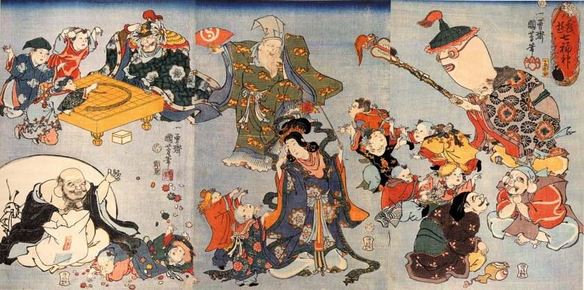 Artist: Kuniyoshi Utagawa / Title: The Seven Goods of Good Fortune