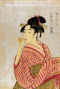 Artist: Kiyomaro Utagawa / Title: Young Lady Blowing on a Poppin
