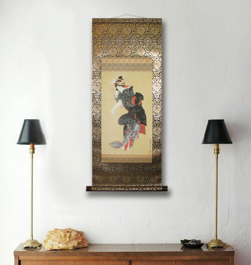 Ukiyo-e Kakejiku display 003