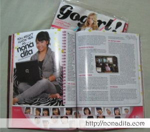 Gogirl edisi November 2009 - Nonadita