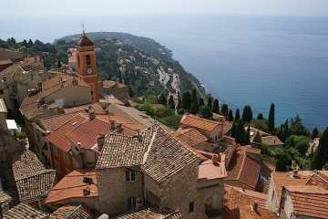 Picture of Roquebrune on the French Riviera, Cote d'Azur.