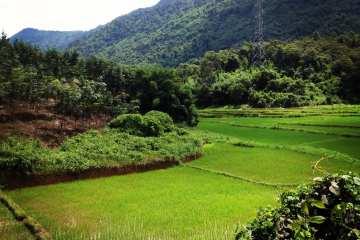 Vang Vieng nella stagione delle piogge