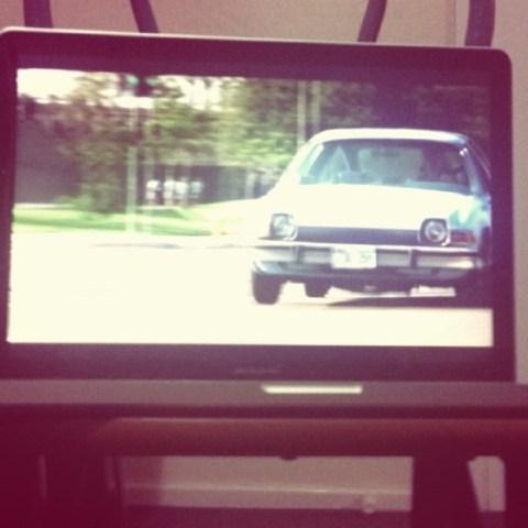 A car on TV