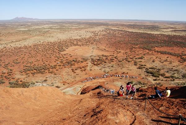 photo sommet uluru australie