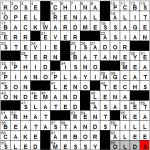 Nora In NY Times Crossword