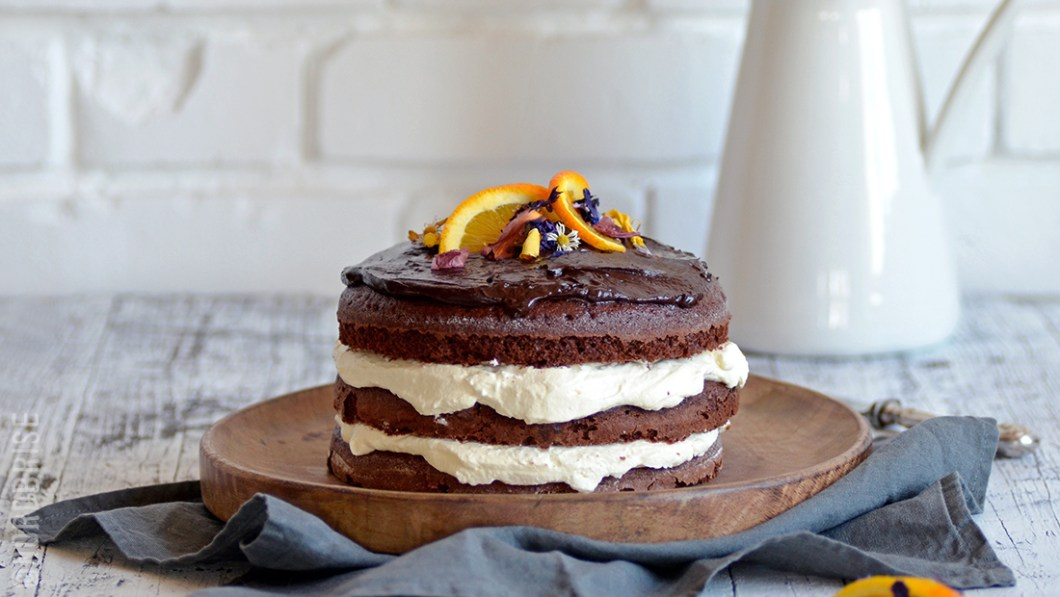orange dark chocolate cake
