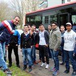 Mit Spaß bei der Sache – 18 Flüchtlinge auf der Suche nach eine beruflichen Zukunft (Foto: Rainer Sander)