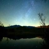 一ノ瀬園地 まいめの池からの星空