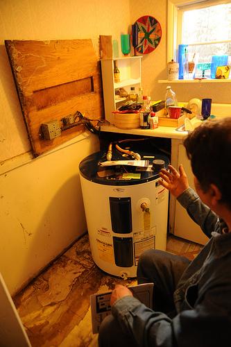 hot water heater install photo