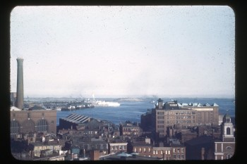 Boston from Old North Church [over Union Wharf] c. 1950s-1960s (Source: private collection)