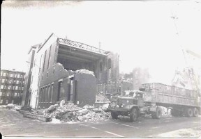 Demolition of the Old School (Photo Contributed by Mark Petrigno)