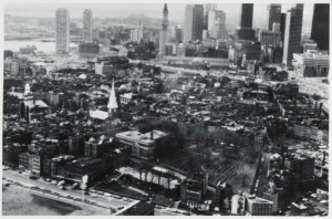 North End Aerial 1976 Photo by Rick Zonghi for &quot;Boston&#039;s First Neighborhood&quot; by Paula Todisco (via Boston Public Library)