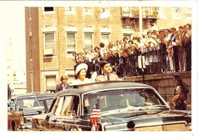 Queen of England and Michael Dukakis in North End (Photo contributed by Mark Petrigno)