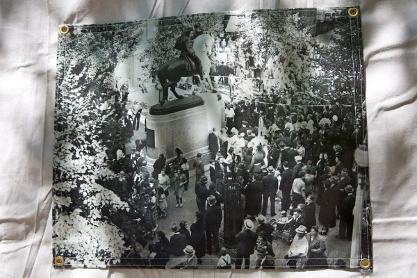 September 12, 1940 Dedication of the Paul Revere Statue on the Prado - Banner