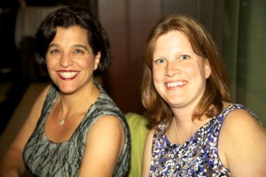 From left- Julie McHugh and Mary Marenghi
