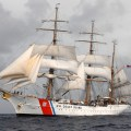 CARIBBEAN SEA - The Coast Guard Cutter Barque Eagle underway in the Caribbean. The Eagle is the only square-rigged sailing vessel active in government service. The Eagle's primary mission is to train future Coast Guard  officers from the Coast Guard Academy in New London, Conn. It's secondary mission is to spread the goodwill of the Coast Guard and the American people where ever it may stop. Coast Guard photo by PA1 Donnie Brzuska, PADET Jacksonville, Fla.